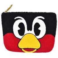 つば九郎 サガラ刺繍 マチ付きポーチ (TBA008)