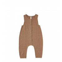 Quincy Mae  Woven Snap Jumpsuit (rust)