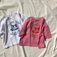 CAT Tシャツ(ホワイト/ピンク)80~140
