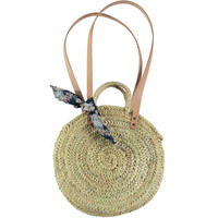 tocoto vintage straw round bag(flowers)