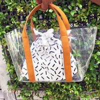 chocolatesoup  GEOMETRY CLEAR TOTE BAG (stick)