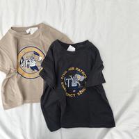 ジェリーTシャツ(ベージュ/チャコールグレー)140.150