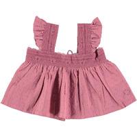 tocoto vintage  lace plumeti baby blouse(pink)2y.4y