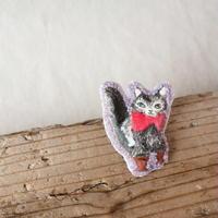 長靴を履いた猫のブローチ -立ち姿- /  ayaco( アヤコ )