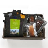 GINO スペシャルティコーヒー/ドリップパック ブレンド4種 13g x 4枚 素材にこだわった焼き菓子3個 ギフトセット (化粧箱、包装、のし リボン含)