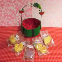 フエルト製スイカケースに夏の焼き菓子5袋