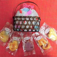 金魚柄バッグに夏の焼き菓子5袋詰め合わせ