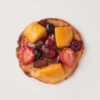 フルーツ&チョコのデザートピザ