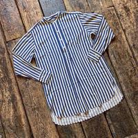HAVERSACK / ノーカラープルオーバーロングシャツ