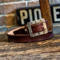Dutch Leather Company × Japanese Silver Smith MASAYOSHI / Tony belt (Rusted)
