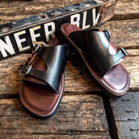 LIGHT MARKER /DOUBLE MONK STRAP SANDAL (BLACK×ティンバー)