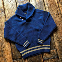 FULLCOUNT /INDIGO COTTON SHAWLCOLLAR SWEATER