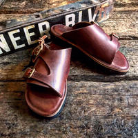 LIGHT MARKER / DOUBLE MONK STRAP SANDAL(ティンバー)