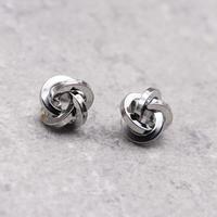 metal complex twist  pierce(Silver)/  2103_PR088