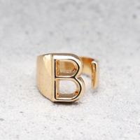 Initial ring(PINK GOLD / B) /  RG-GL045