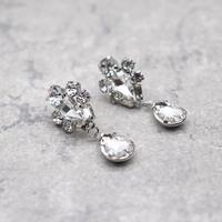 Waterdrop Crystal Dangle Pierce(SLV) / 2102-PR005