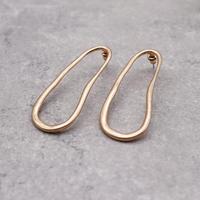 Geometric Deformation ellipse Hoop pierce(Gold)/  2103_PR082