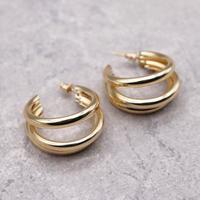 Design Triple hoop  pierce(GLD)/  2103-PR098