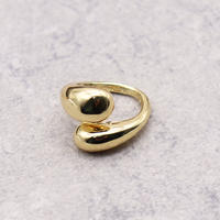Cross drop ring(GOLD1) / 2104-RG074