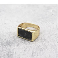 Marble stone square ring(GREY) / 2101-RG064