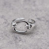 Geometric Chaine ring(S925 Silver) / 2103-RG009