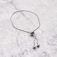 Snake Chain Bangle Pull-out Adjustablel Bracelet (SILVER)/ BR-030