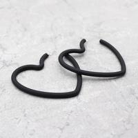 Black Metal heart Pierce(Black) / 2102-PR024