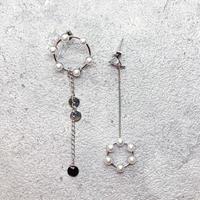 Asymmetry pearl chain pierce(SILVER) /   PR-161