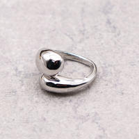 Cross drop ring(SILVER) / 2104-RG074