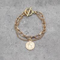 Coin&chain Bracelet (GOLD)/ BR-025
