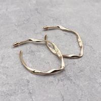 Irregular Rhombus Distortion Hoop pierce(Gold)/  2103_PR084
