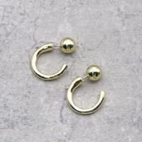 Metal ball mini hoop Pierce(GLD) / 2102-PR047