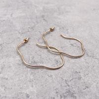 Irregular Oval Link Hoop pierce(Gold)/  2103_PR083