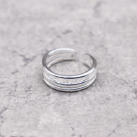 Three lines Sterling Silver ring(S925 Silver) / 2103-RG011