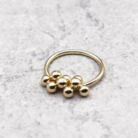 Grapes metal ring(GOLD) / 2104-RG073
