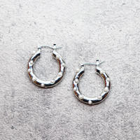 Pearl dot hoop pierce (SILVER) /  PR-132