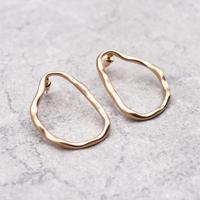 Geometric Irregularly F Hoop pierce(Gold)/  2103_PR081