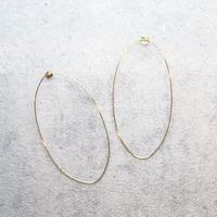 Extra fine oval hoop Pierce(GOLD) /  PR-144
