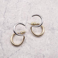 Double Circle Twisted Pierce(SLV×GLD MIX) / 2102-PR039