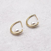Hook type pearl pierce(Gold)   /   2104-PR0105