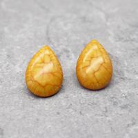 Retro Acrylic drop marble Pierce(Sunflower) /  2102_PR055