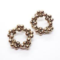 Ball circle pierce(GOLD)/  PR-100