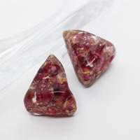Triangle acrylic stone Pierce(red)/ PR-039