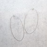 Extra fine oval hoop Pierce(SILVER) /  PR-144