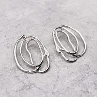 Distortion Irregular Round pierce(Silver)/  2103_PR092