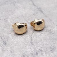 Minimalist Ear Hole Clip on Earrings(Gold) /  2102_ER046