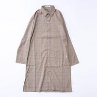 ロング丈チェックシャツ  GT191-3090  BEG/GRY