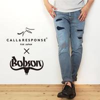 【日本製】BOBSONコラボ/SOLOTEX ®ダメージデニム/ ライトブルー / 201-1553-09