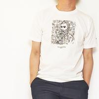 アートゴッホ発泡プリントTEE/ ホワイト /201-1324-17