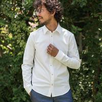 マキシマムストレッチシャツ/ ホワイト /202-1211-01